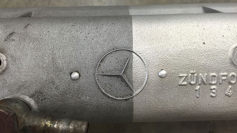 Automotive Parts Dustless Blasting Before After
