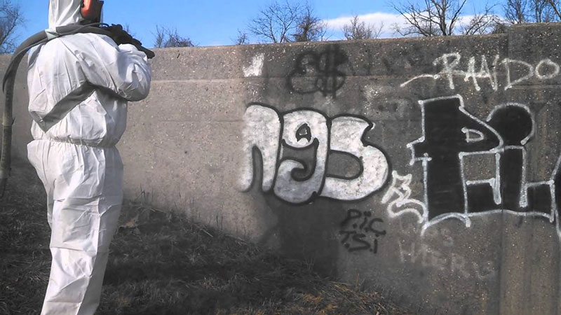 Graffiti Removal Dustless Blasting