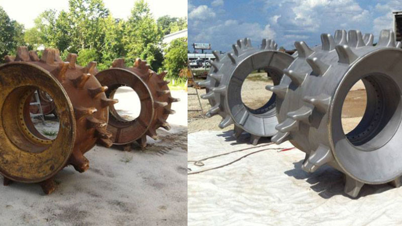 Industrial Dustless Blasting Before After