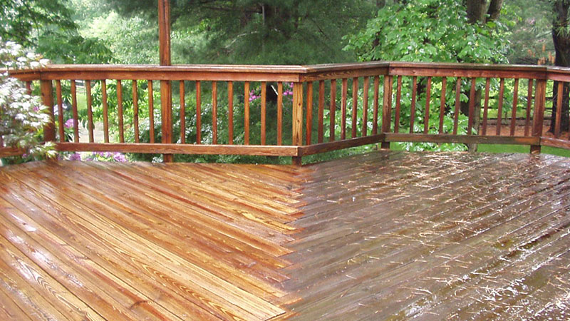 Deck Dustless Blasting Before And After