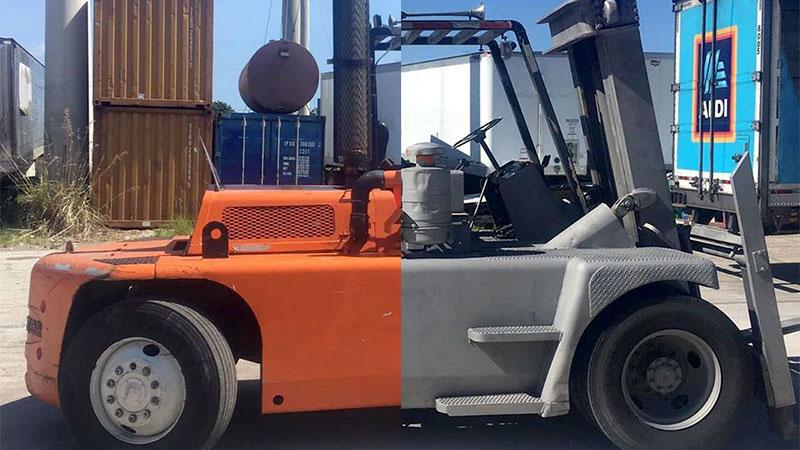 Dustless Blasting Kansas City Forklift