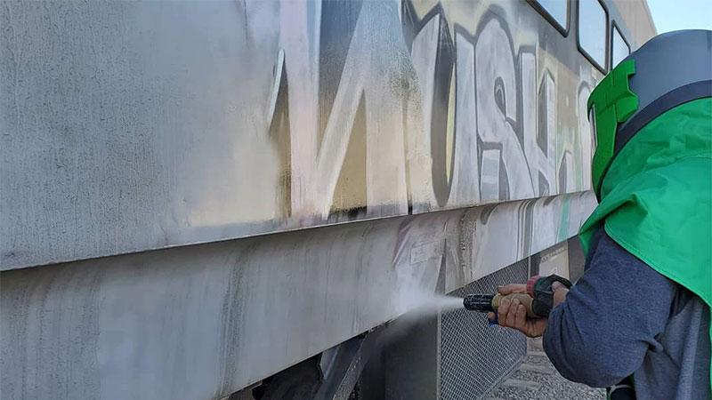 Graffiti Removal Kansas City Dustless Blasting